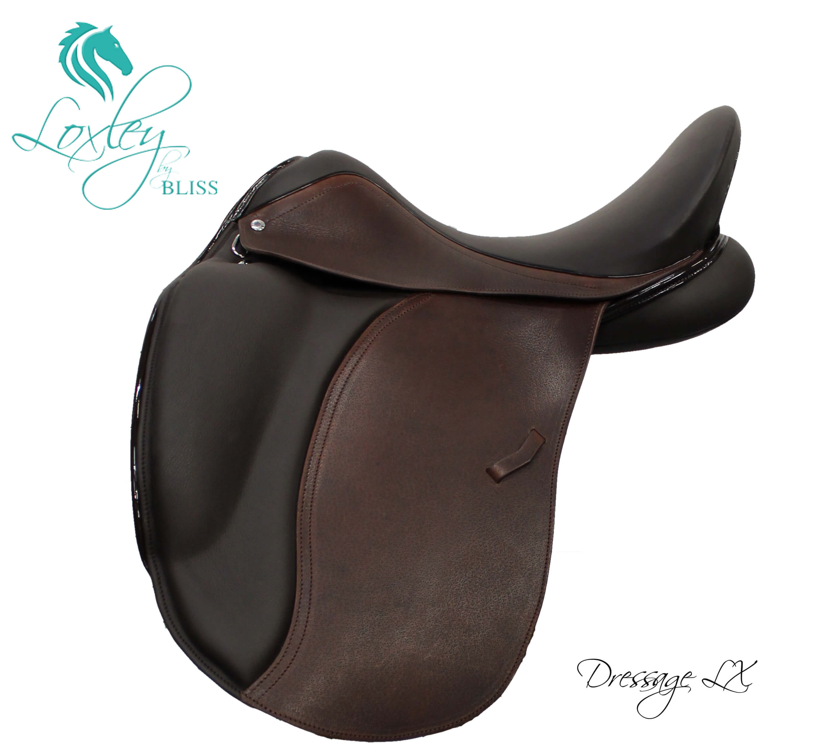 1AA Product page 1 - 18053 - Loxley Dressage LX cocoa two tone patent