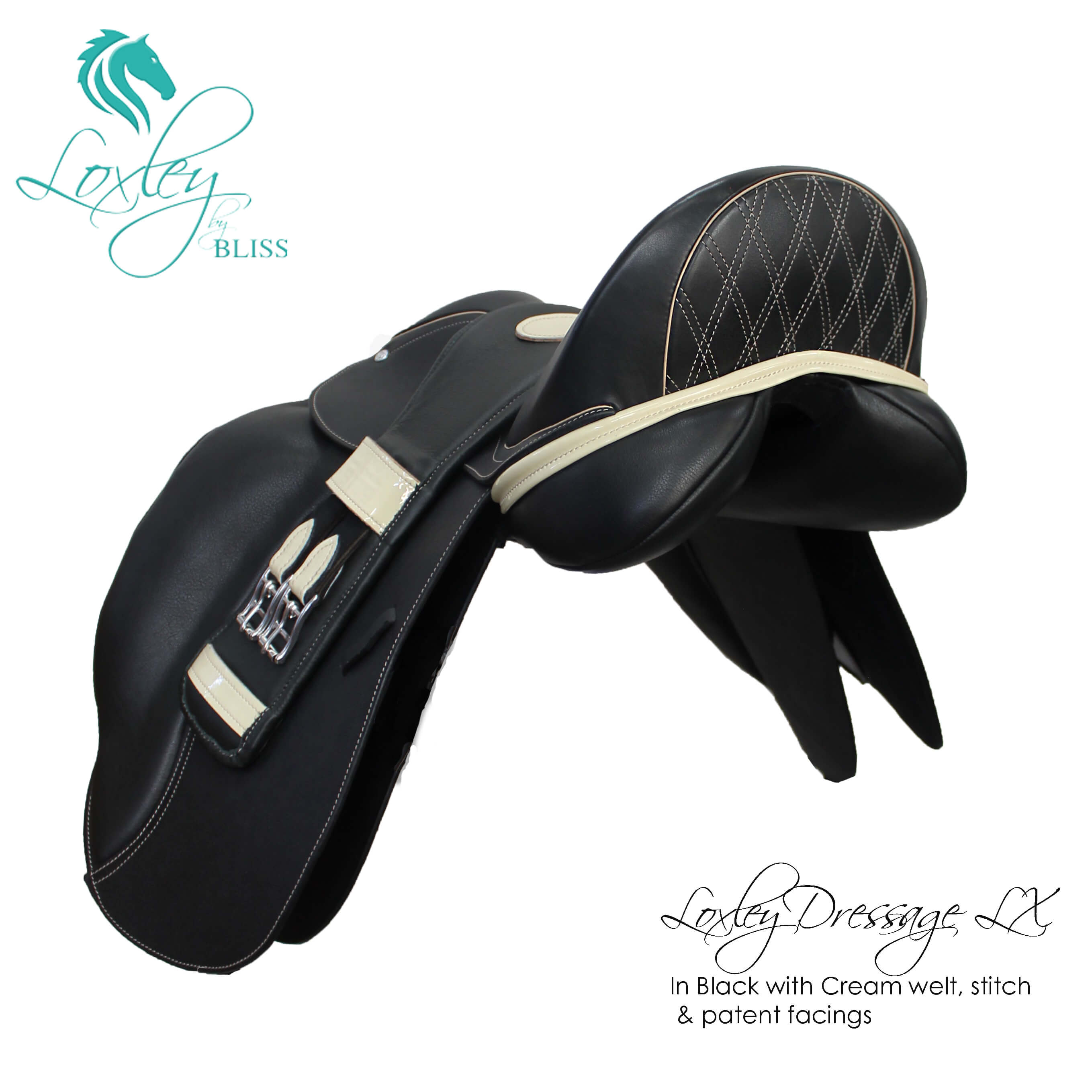 6 Loxley Dressage LX Black Cream patent