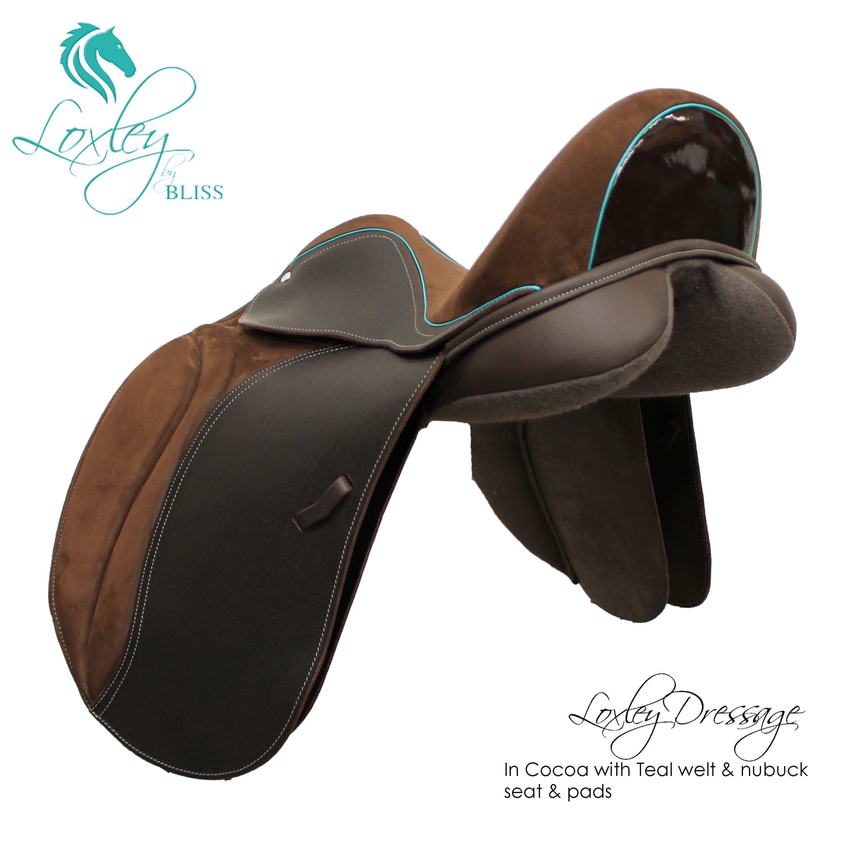 Loxley Dressage Cocoa Teal Nubuck34