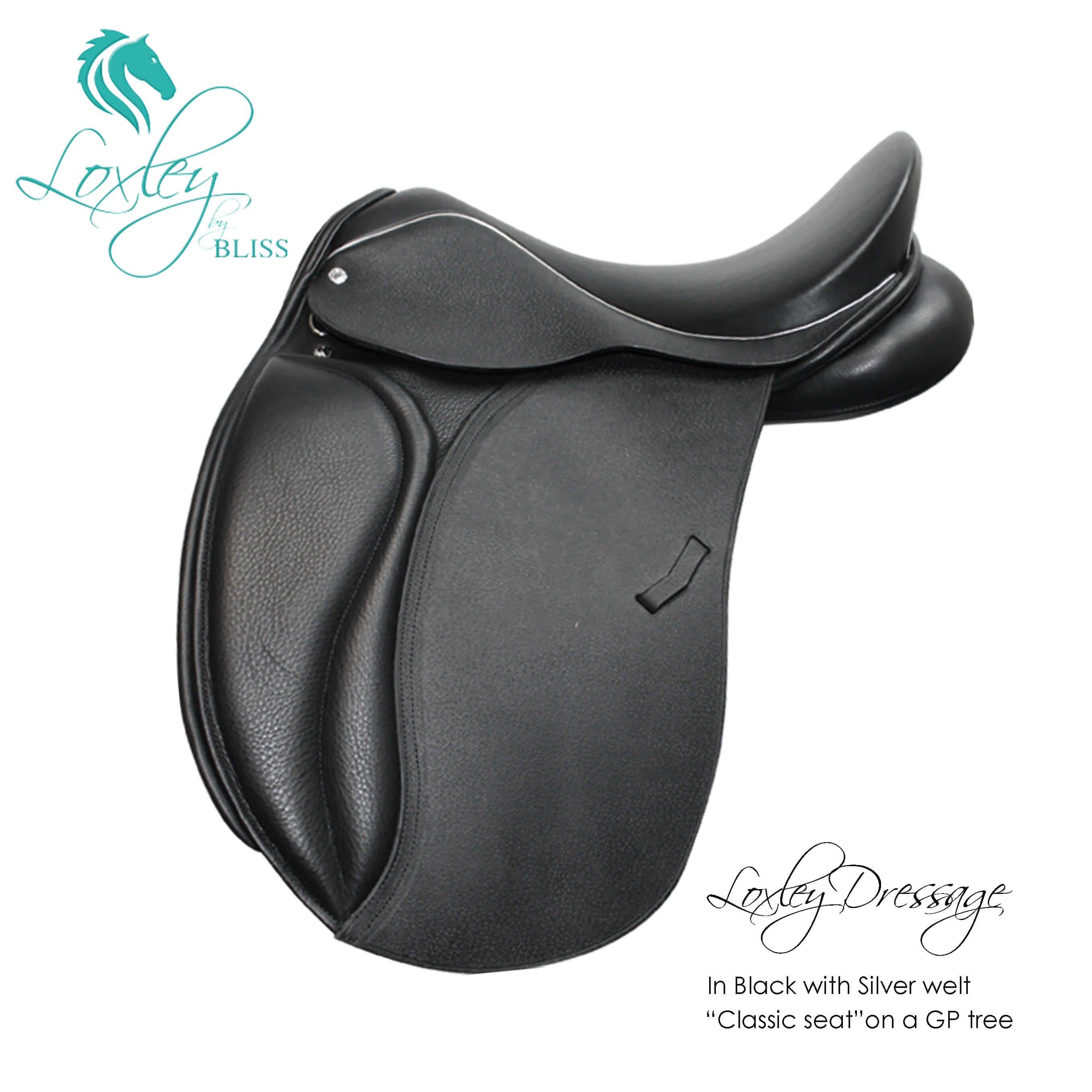 Loxley Dressage black Silver welt classic seat gp tree