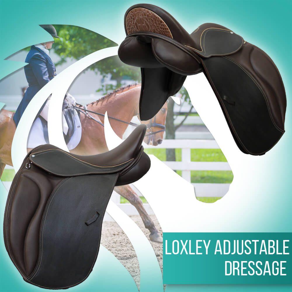 Loxley Dressage cocoa cream crock adjustable