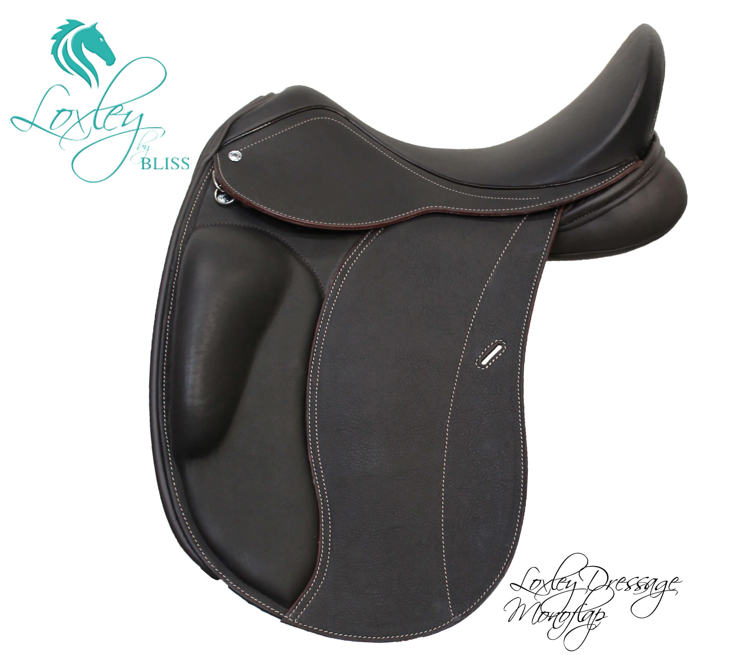 10 Loxley dressage mono side - Br Dr mono quilt & badge Loxley Saddle Image Template