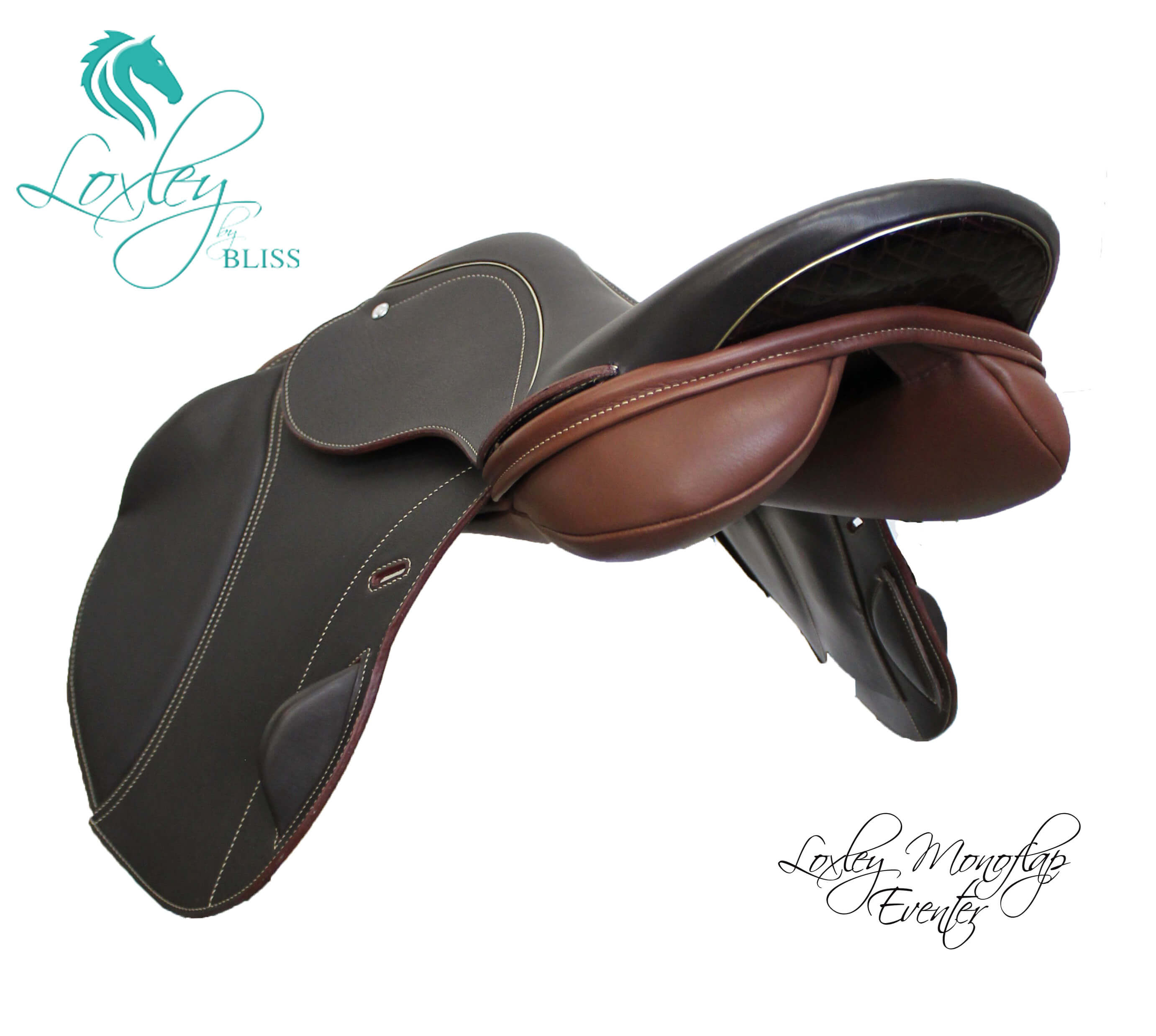 1A Product image - loxley monoflap eventer - claret & gold side angle Loxley Saddle Image Template