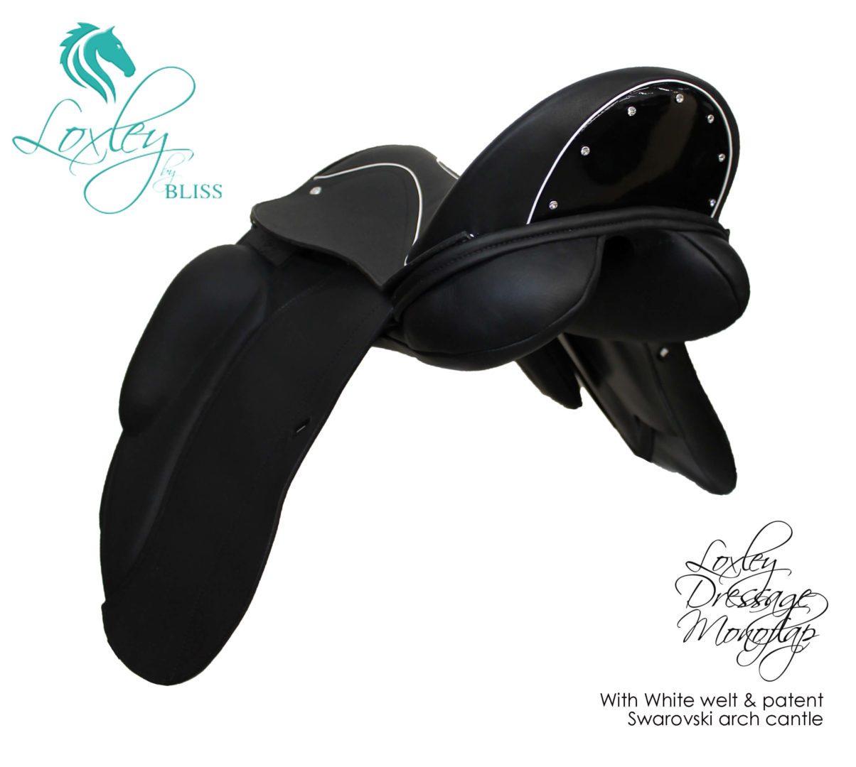 26 loxley dressage mono 34 Black white patent arch