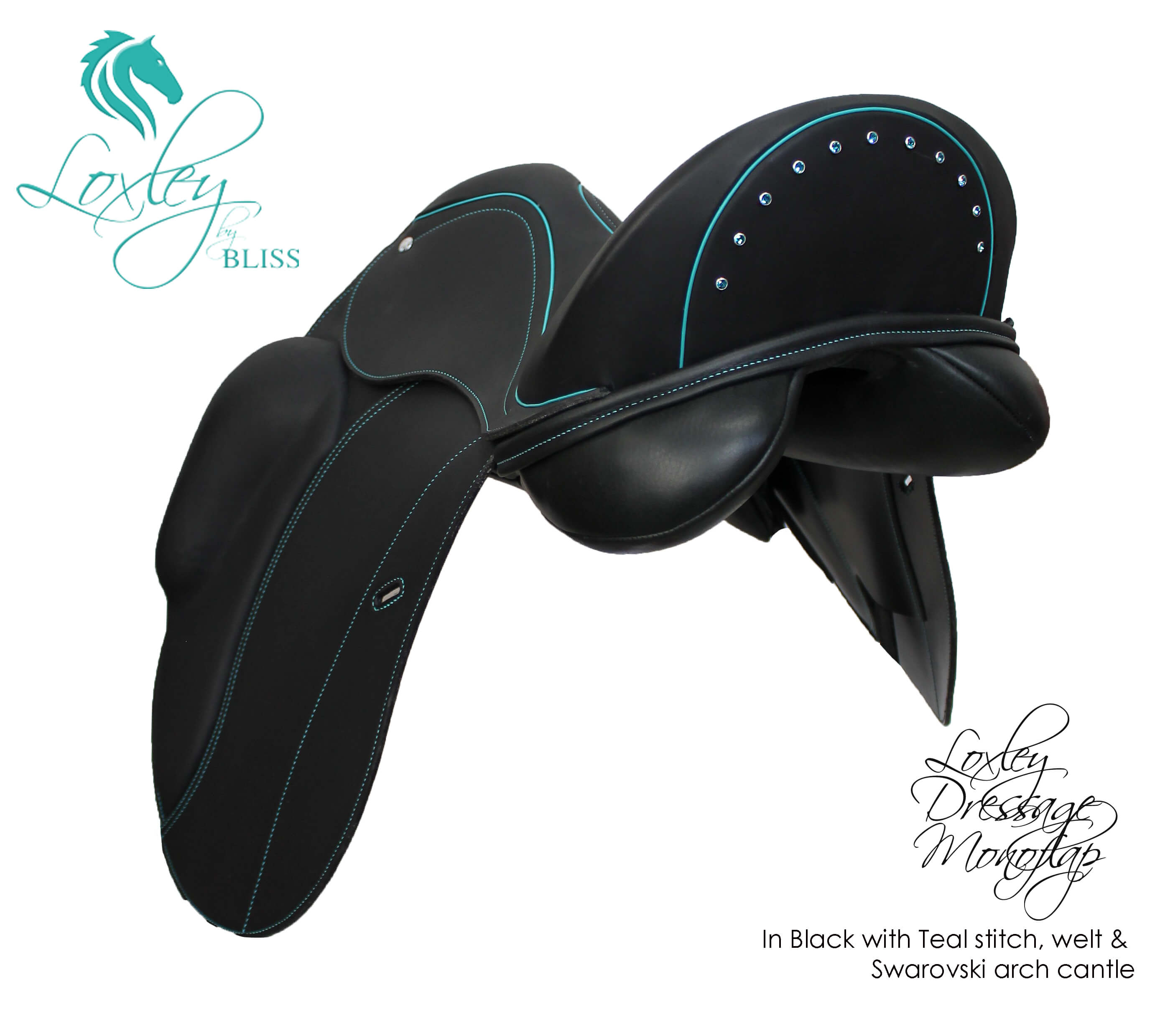 28 Loxley Dressage Monoflap - black & teal arch 34