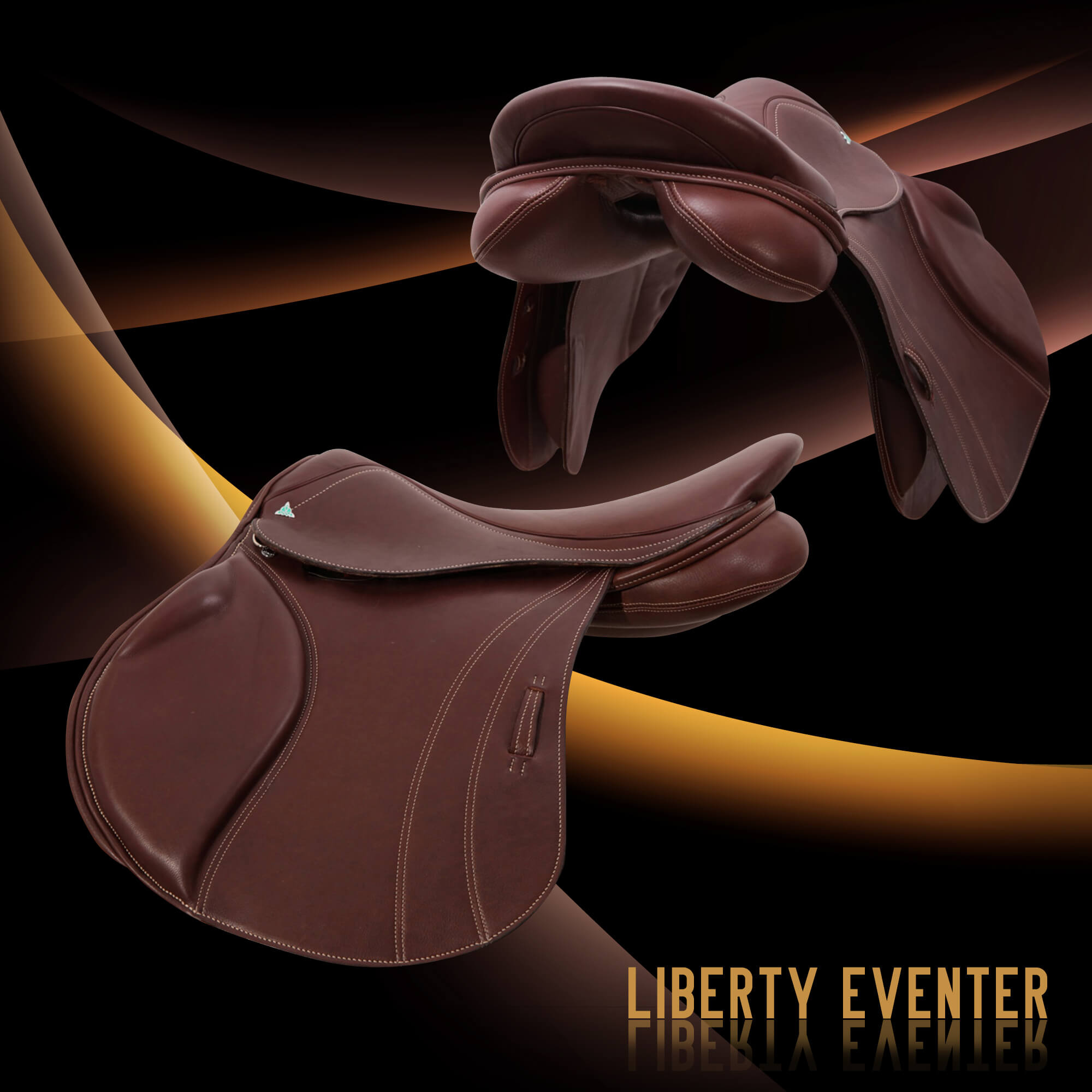 3 Bliss Liberty eventer saddle cocoa