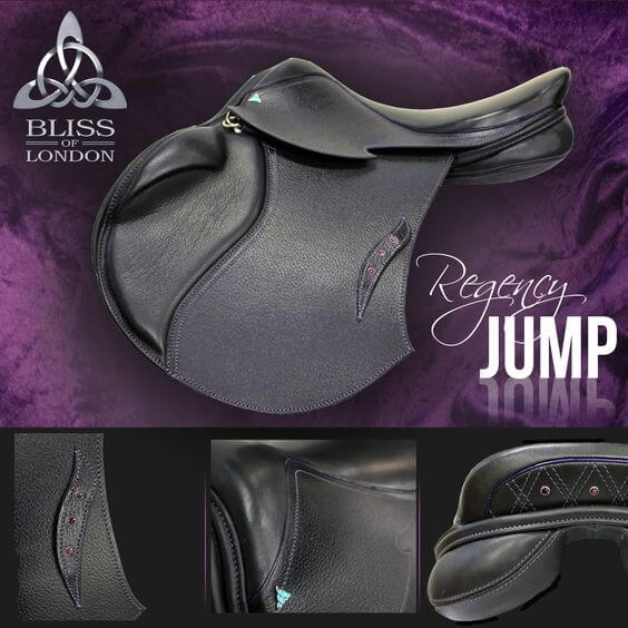 3 Bliss Regency Jump Black & Purple Swarovski
