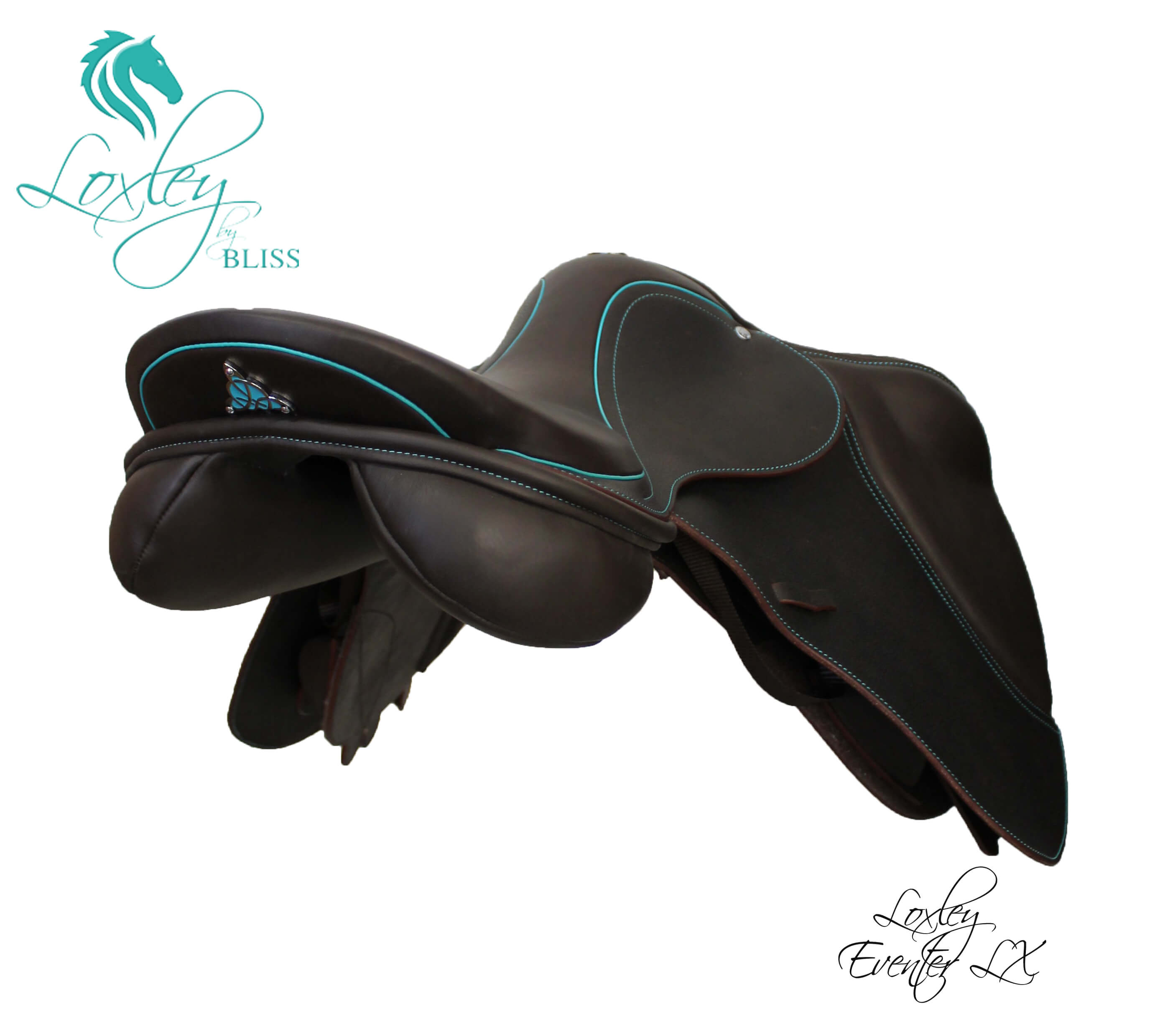 3 Cocoa & Teal eventer LX side angle Loxley Saddle Image Template