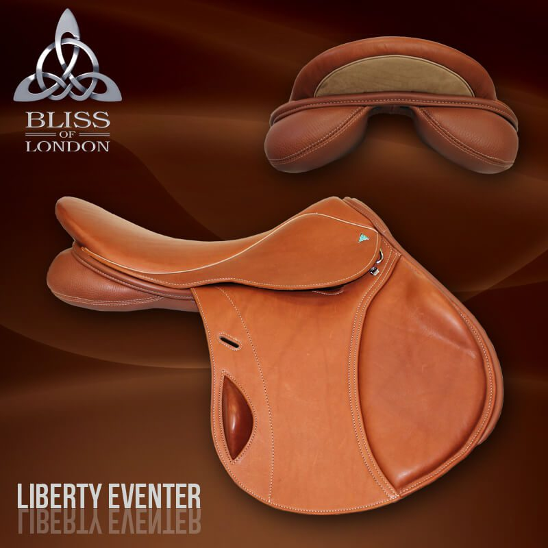 4 Bliss Liberty Eventer Saddle Cognac
