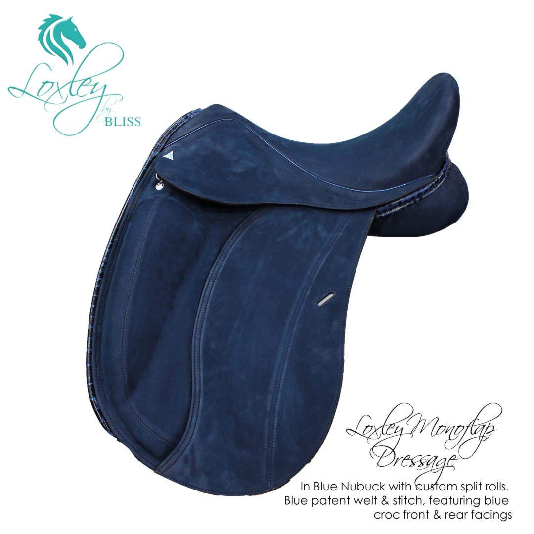 8 loxley dressage mono blue nubuc