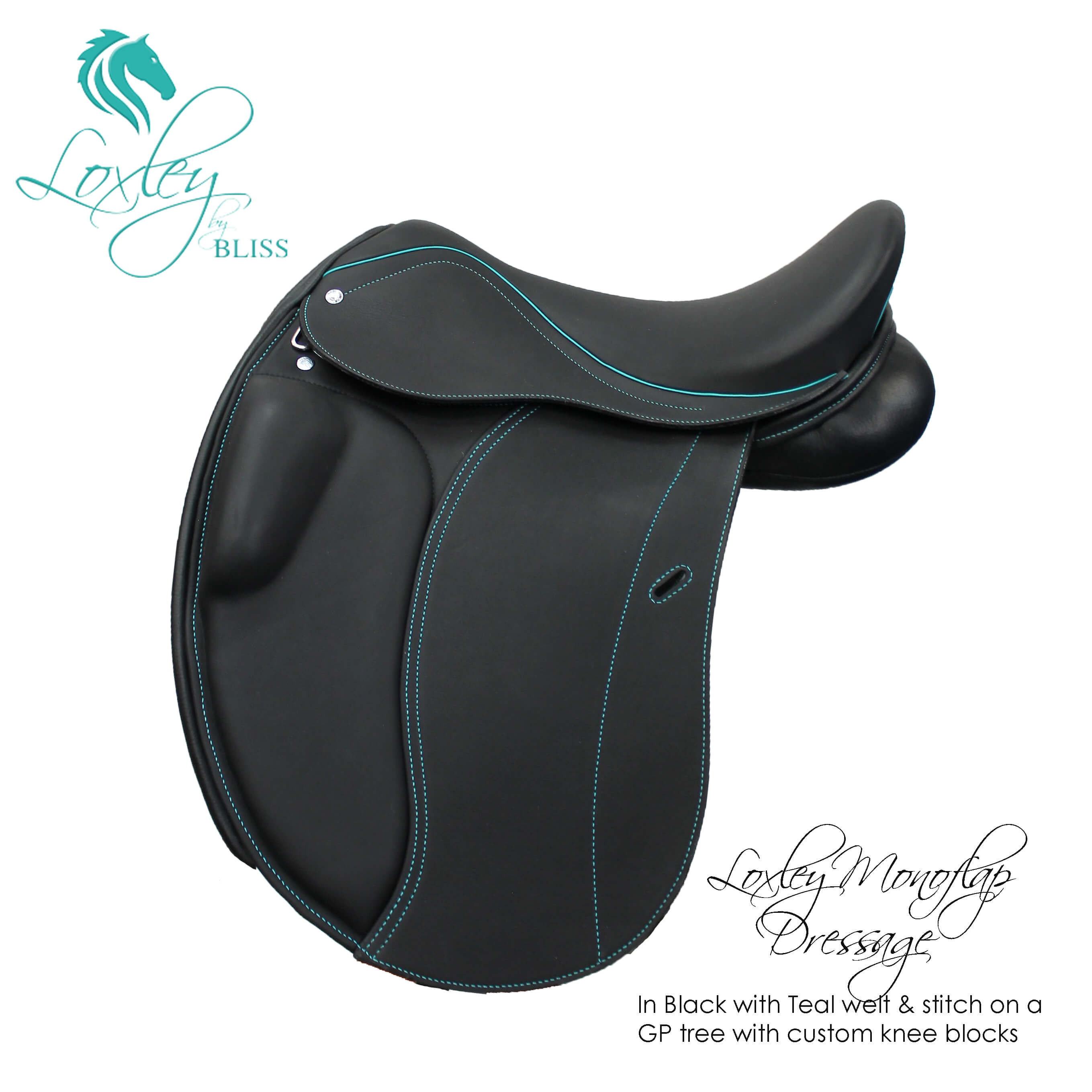9 Loxley Dressage mono GP tree endurance block black teal