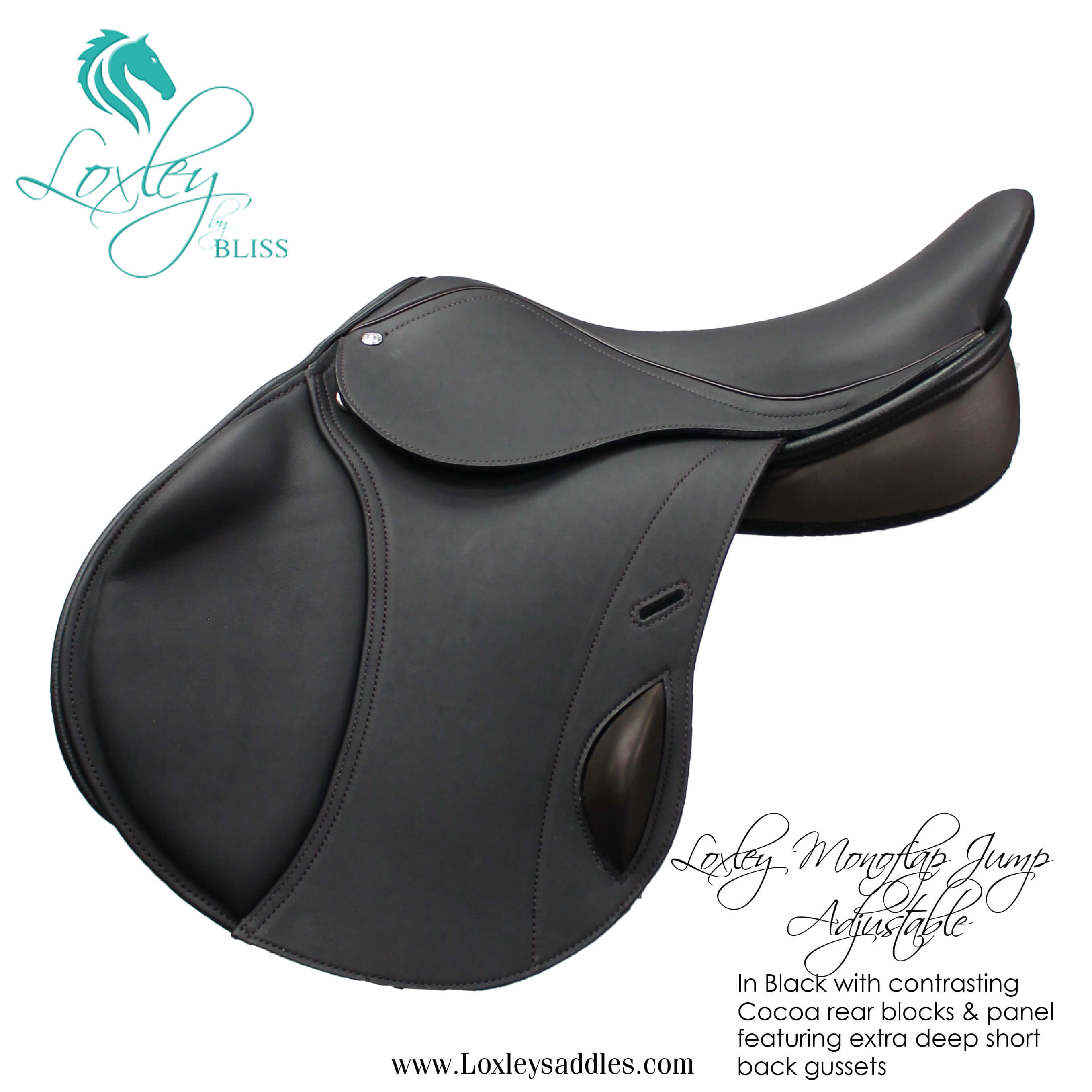 Loxley Jump Monoflap Black & cocoa Side