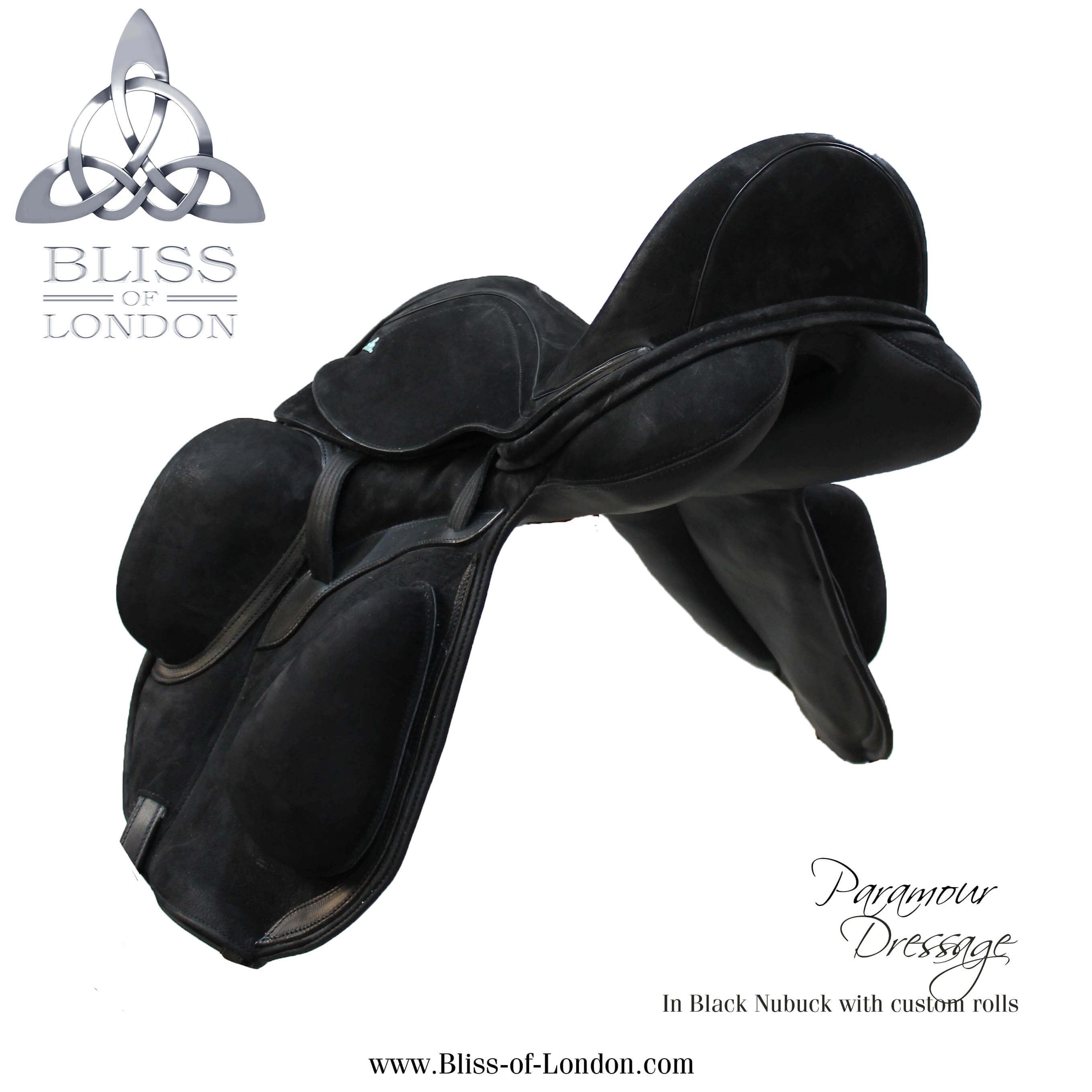 19227 - black nubuck para dressage custom velcro blocks 34