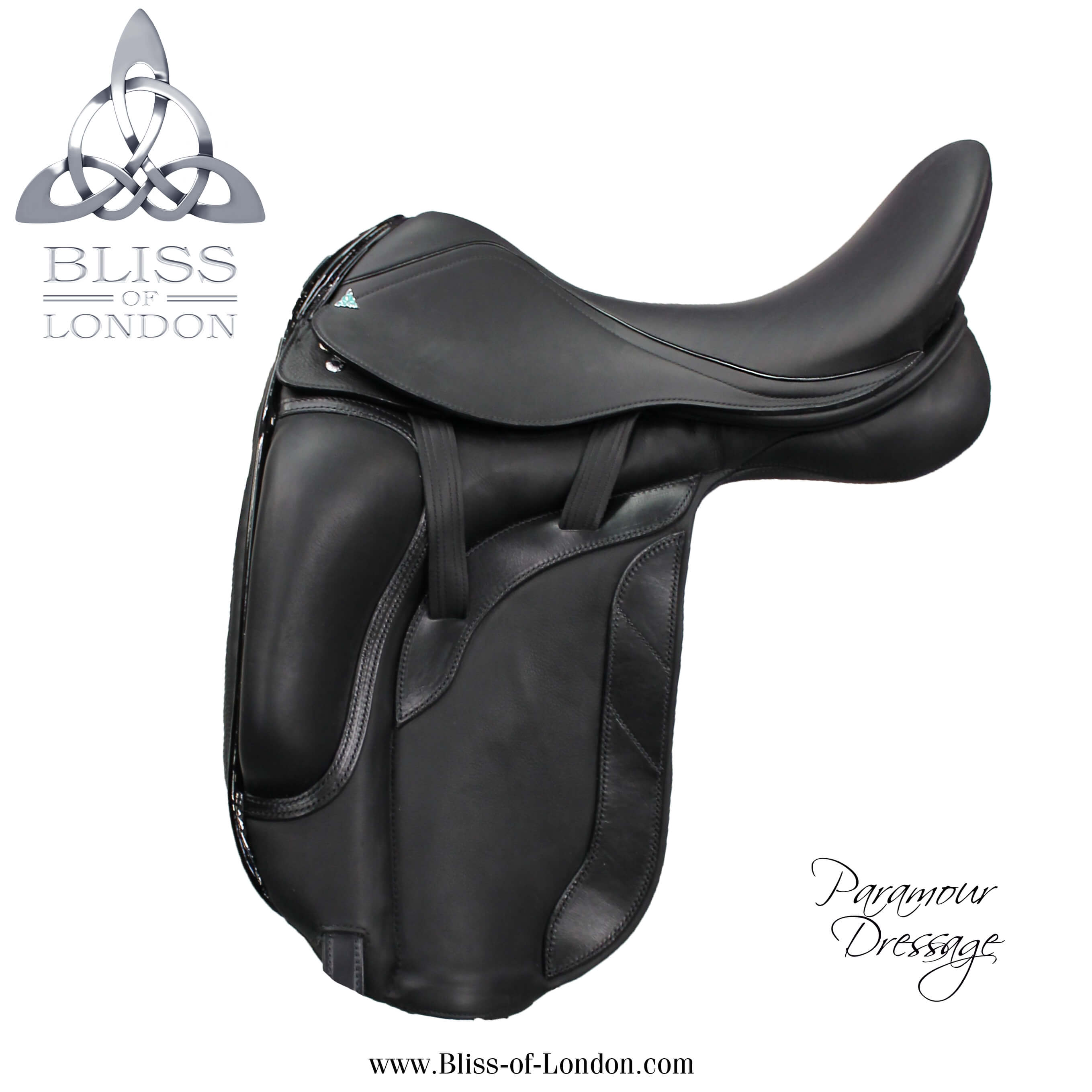 735 - Paramour Dressage Patent Halfmoon Cantle Badge side
