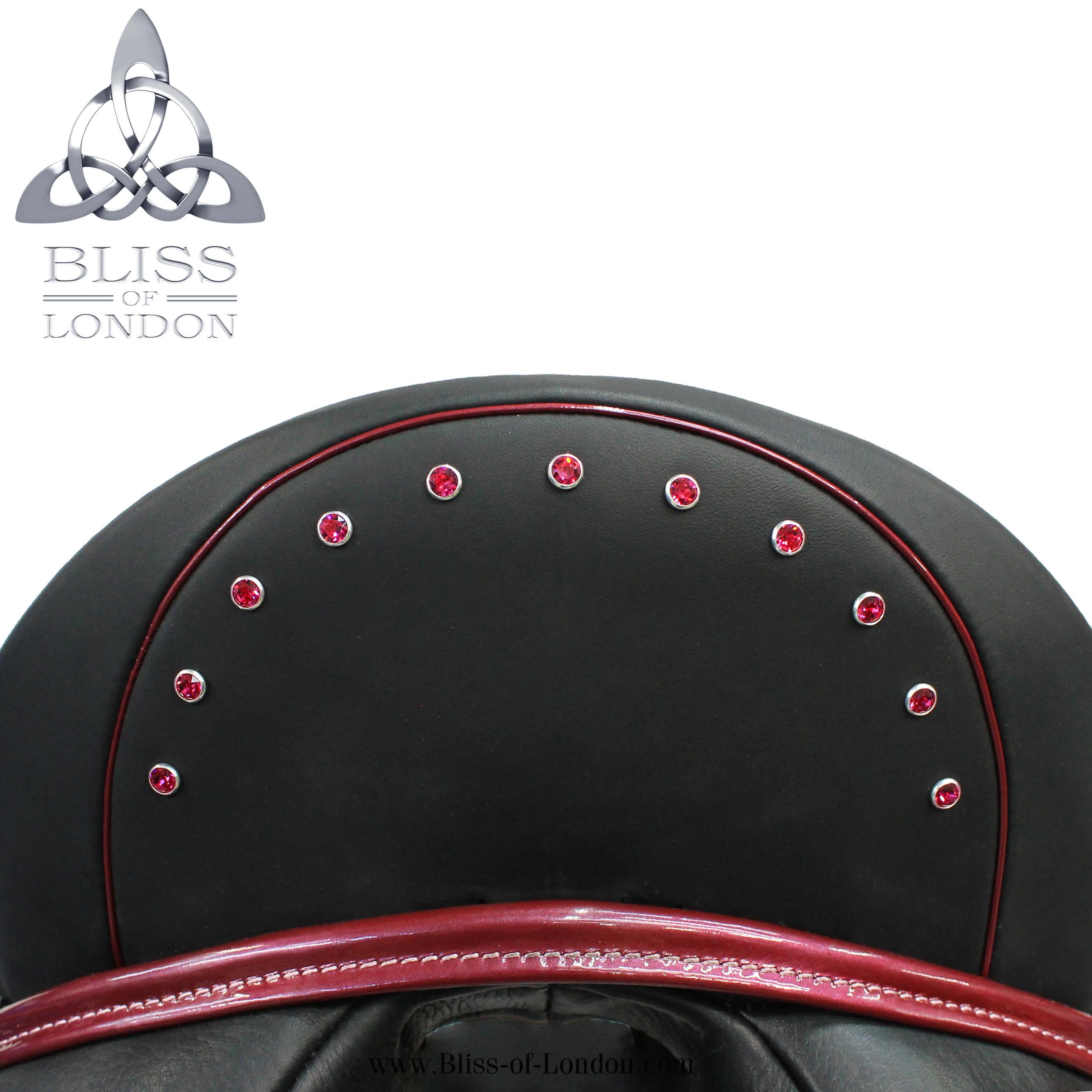 loxley dressage mono flap pink patent padeggro swarovski arch cantle