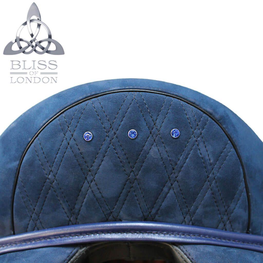 19317 - Bliss Website Paramour Dressage Blue Nubuck Quilt Stitch Diamamte Cantle