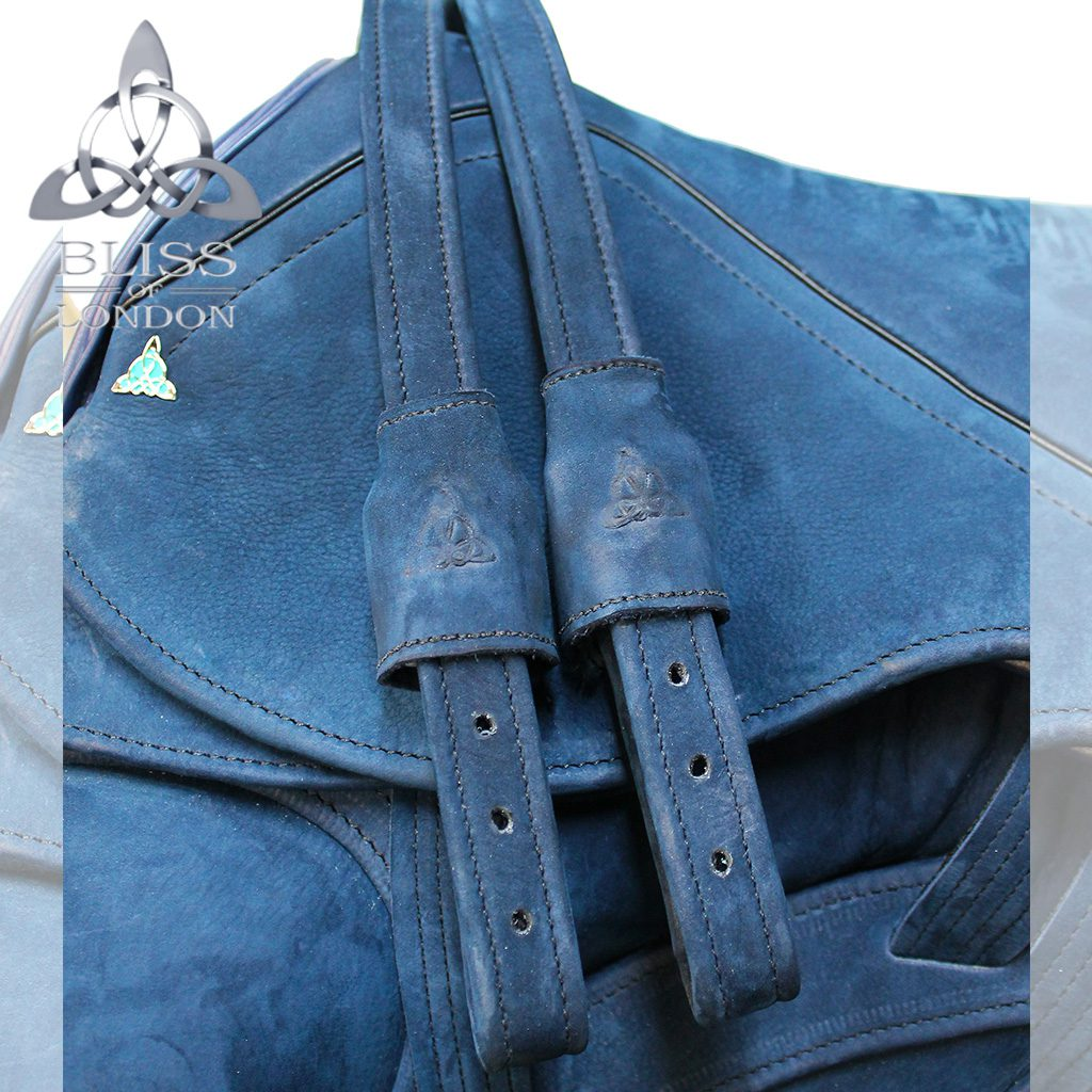 19317 - Bliss Website Paramour Dressage Blue Nubuck Quilt Stitch Diamamte leathers