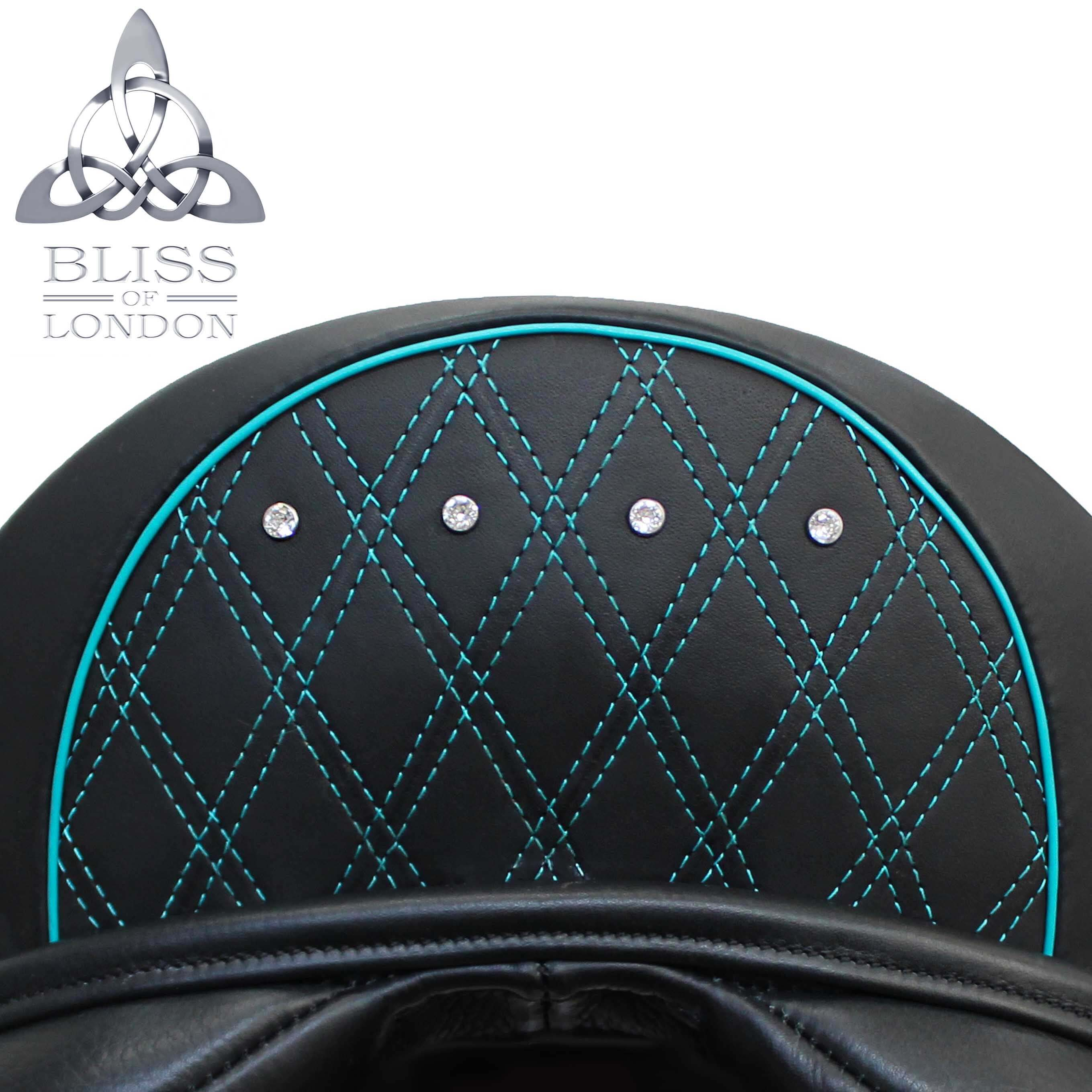 BLISS TEAL QUILT DIAMANTE CANTLE BLACK