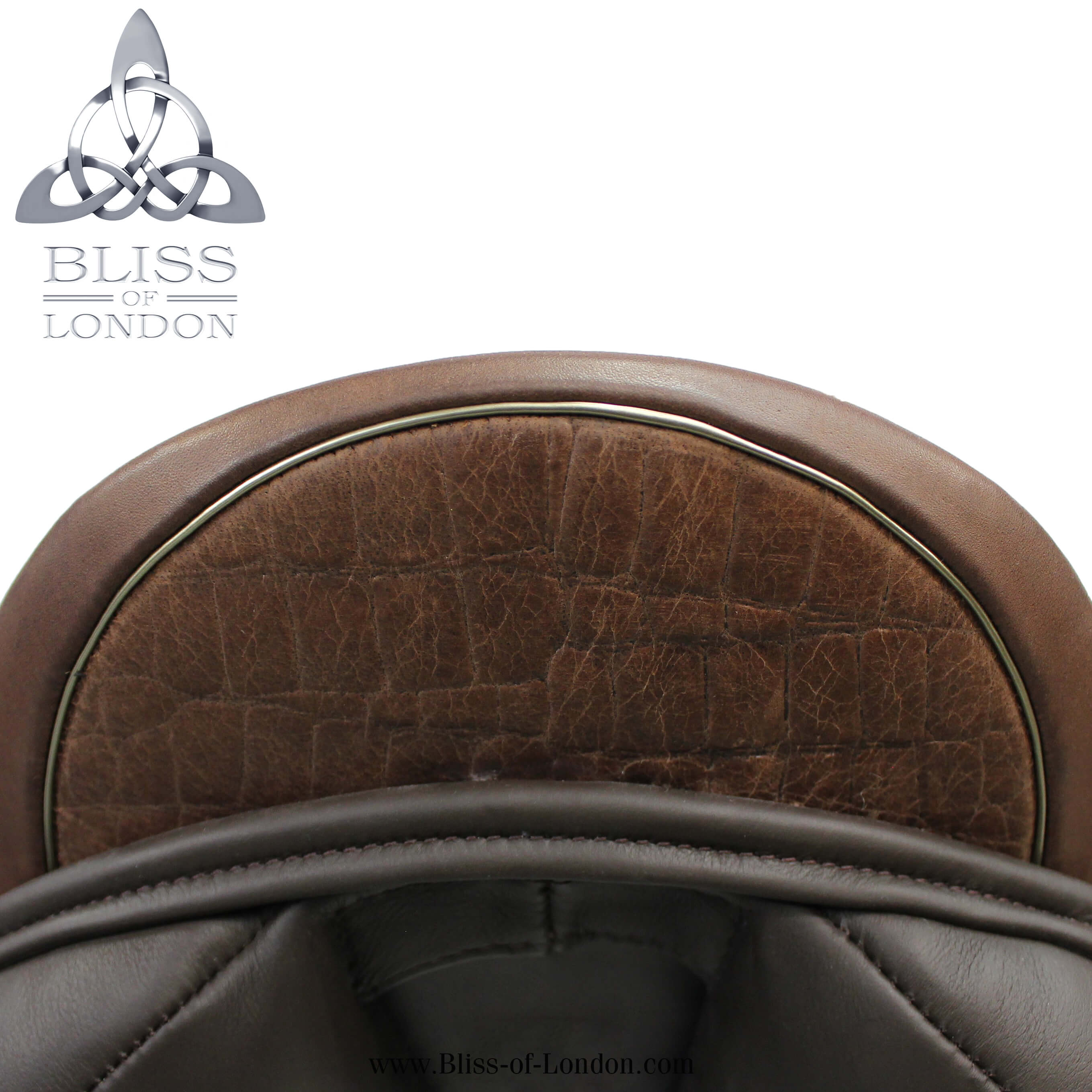 Loxley Eventer cocoa contrast gold welt croc cantle