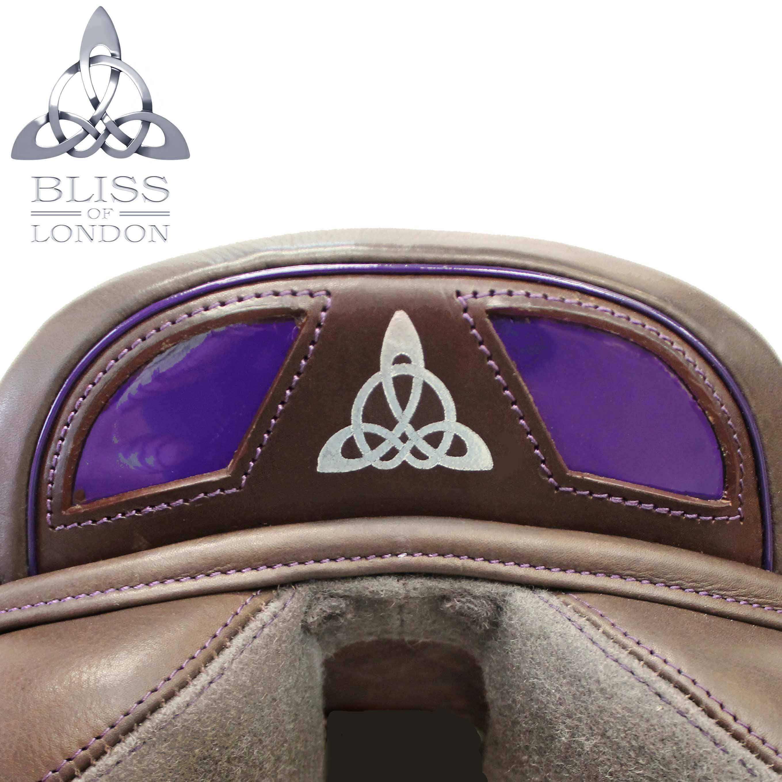 PURPLE SPEED FEATURE CANTLE COCOA BADGE SWAROVSKIS